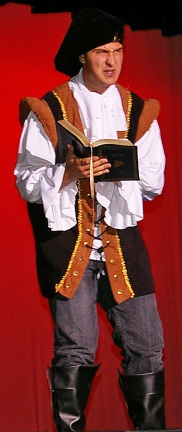 Chris Carchedi performed a scene from Shakespeare.