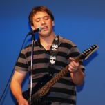 Justin Ferullo showed his singing talents.