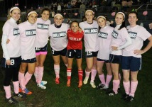 Senior soccer players Photo by Kelley Reale