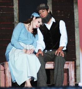 Charis Nelson and Christian Malo in a scene from the Theater Guild production of Fiddler on the Roof.