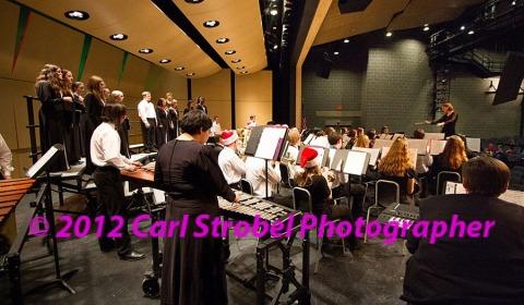 chorus and band