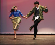 Molly McLellan and Chris Carchedi at dress rehearsal of Fiddler on the Roof. photos by Devin Gilmore, Vertias Staff
