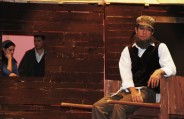 Tevye contemplates the romance of his daughter Hodel (Molly McLellan) and Perchik (Chris Carcedi)