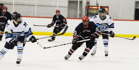 Shawn Kane and Andy Reardon against Medfield last year.