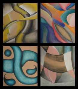 Abstracts in Pasteltop:Caitlyn Bohld, Kianni Conley-Wisonbottom:Sydney Bissonnette, Tamika Blount