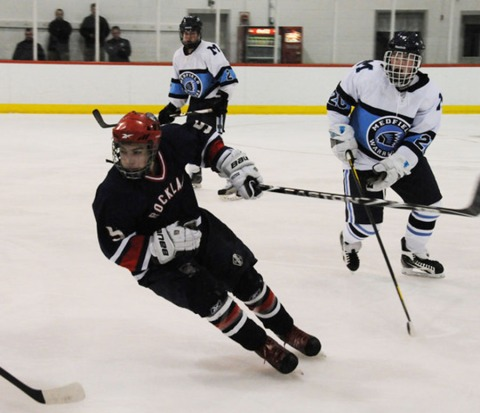 Shawn Kane in the tournament win against Medfield last year.  The Dogs are 3-1 this year so far.