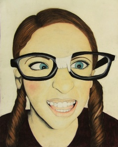 Sydney Bissonnette's Self-Portrait Drawing won an Honorable Mention in the Globe Show.