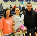 Alex Reyno with her parents Kim and Dennis Reyno