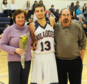 Tom Dececco with his mother and father, Kathy and Nick DeCecco