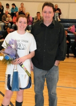 Bailey Olsen with her dad Robert Olsen.
