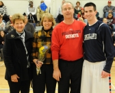 Brett Barrett with his mother, Sue, his father Dan, and his grandmother Helen