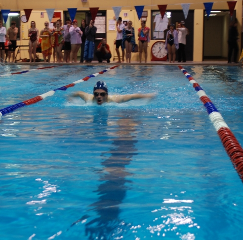 Ian Welch swims in a recent meet.