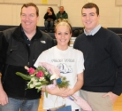 Kayla Meech with her father, Frank and her brother, MIke.
