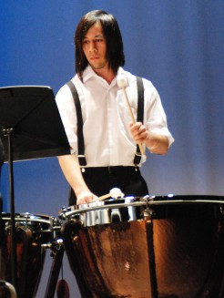 Christian Malo led the percussion section photo by Georgia Panagiotidis