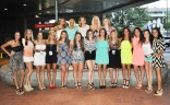 The cheerleaders dressed up for dinner.