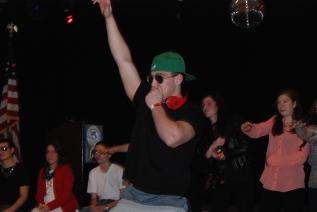 Dennis McPeck enjoying performing.