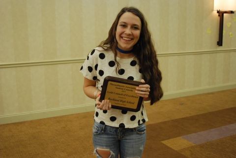 Kelsey Joyce with RHS Gold Council Award!