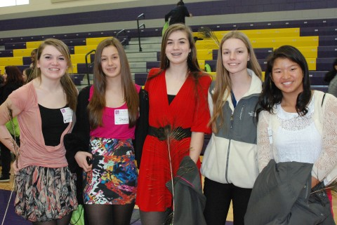 RHS students at the Leadership conference at Curry College.