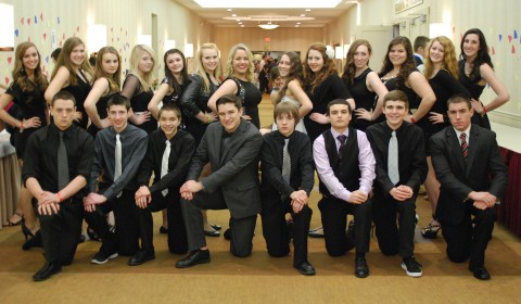 The Rockland group is ready for the semi-formal. Photo by Georgia Panagiotidis