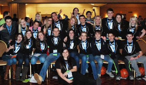 The Rockland group at MASC Day 2. Rockland's Council was given the prestigious Gold Council Award.
