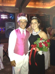 Alex Mejia and Danielle Oliver were king and queen of last year's junior prom.