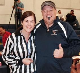 Ms. McDonough and Mr. Damon were the refs.