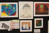 Brian Leonard's artwork at the Arts Festival