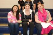 The three amigos: Leah O'Bryan, Sarah Royale, Ms. Walsh