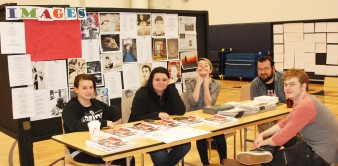 These students sold Images Magazine and the Veritas at the Arts Festival