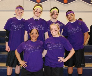 Purple Cobras rule! Sean Roche, Jon Turner, Matt Nicholson, Alex Mejia, Angelica Calderon and Brianna Starkey.