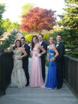 Kylie Langhoff, Devin Gilmore, and Leah Benson with their dates