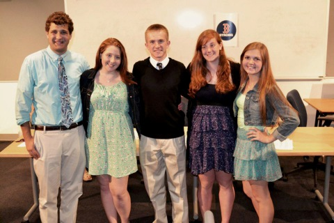 Chris Carchedi, Alexis Hogan, Tim Lorgeree, Brianna Novio and Shannon Gray at the SGC banquet.