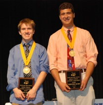 The Class of 2013's Co-Valedictorians: Joe Palana and Chris Carchedi.