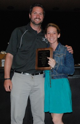 Mr.Johnson with Senior Dawn Bille