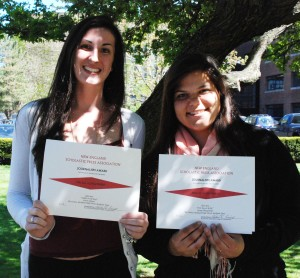Devin Gilmore and Georgia Panagiotidis received Special Achievement Awards for their photography posted on the Veritas Website.  Both also report for the Veritas print edition.
