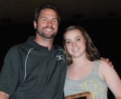 Mr.Johnson with Senior Erin Pratt