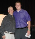 Jim Cahill and Matt Anzalone at the awards ceremony. photo by Molly Hurley