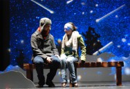 Chris Carchedi and Nicole Cook on a winter night in Almost, Maine.