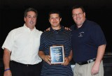 Mr.Graziano and Mr.Damon with Senior Owen Lund