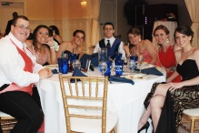 Ashley Hemeon and her date, Erin Pratt, Nick Kinlin, Elise Mulready, and Kait Grafton