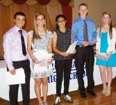 Sophomores Dylan Bernache, Katie Delorey, Iman Bedarkawi, Andrew Frazer and Mekenzie Levesque won academic letters.