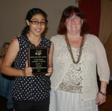 Ms. Cahill with Iman Bendarkawi who won an academic achievement award in English.