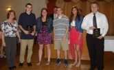 Mrs. Folsom, Physical Education teacher, presented Matthew Clougherty, Allison Cerrato, Shane Darcy, Samantha DeMarco and Jacob Mesheau with the Academic Achievement Award for Physical Education.