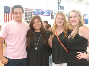 Senior Class Officers: Joe Rizzotto, Georgia Panagiotidis, Molly Garrity and Kaitlyn Sullivan