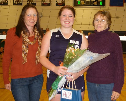 Senior Ally Cerrato with her mother and grandmother, Christine and Linda Erardi.