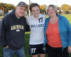 Caitlyn Sugrue and her mom and dad, Patty and Paul.