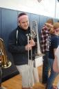 Band senior Jacob Mesheau.