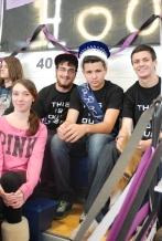 Seniors Melissa Furlong, Andrew Scheim, Mr. Rockland Derek Crowe, and Nick Kinlin.