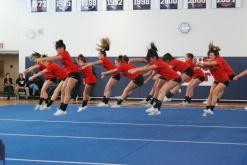 The RHS cheer leaders performing their routine.