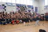 The senior class doing the roller coaster.
